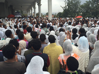 Orthodox Church service in Addis Ababa.