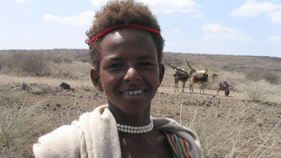 Young man from Danakil Depression, Ethiopia