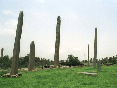 Northern stele field in Axum.