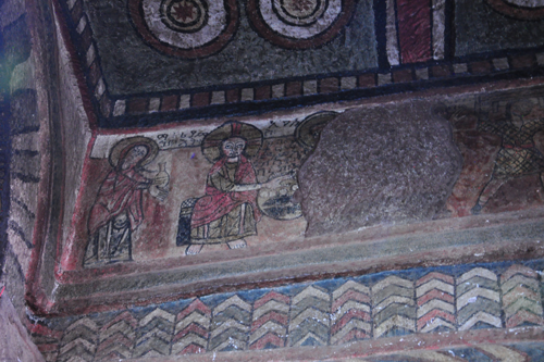 Wall painting inside Church of St. Mary, Lalibela