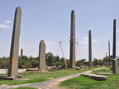 North stele field in Axum.