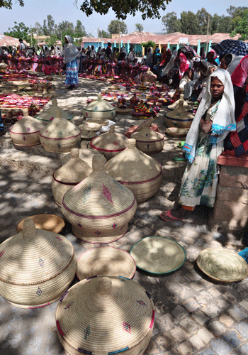 Axum Saturday basket market.