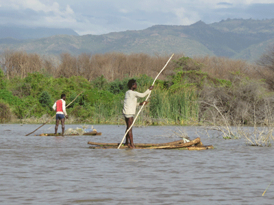 Fishermen on Lake Chamo.