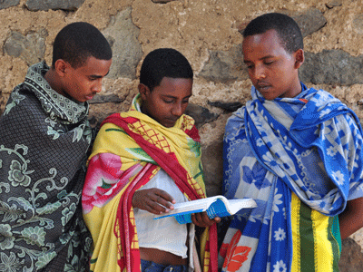 Deacons at a church school in Gondar.