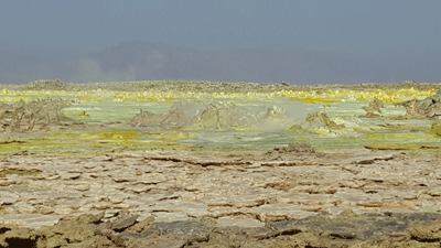 Mineral deposits in the Danakil.