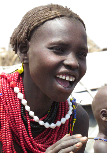 Woman of the Dassanech tribe.