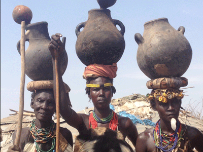 Dasanech tribe in the Omo Valley.