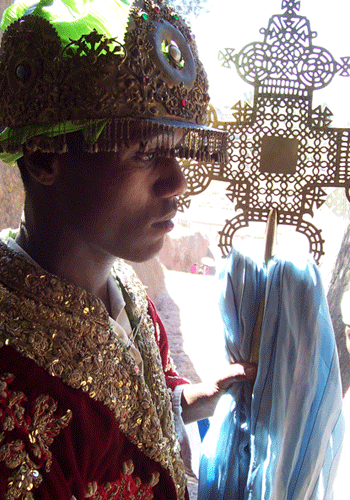 Deacon in Lalibela.