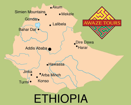 Tour Map of Ethiopia