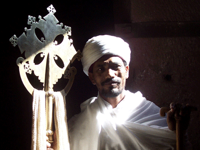 Orthodox priest in Lalibela.