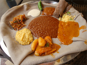 Sampler plate Ethiopian food