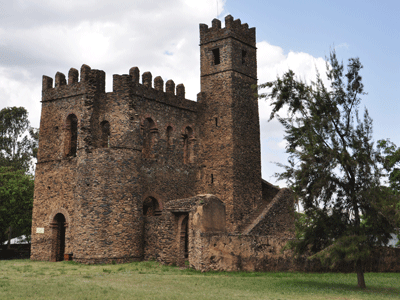 Inside the Royal Enclosure, Gondar.