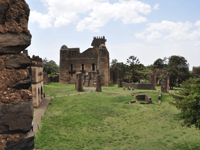 The Royal Enclosure in Gondar is a UNESCO World Heritage site.