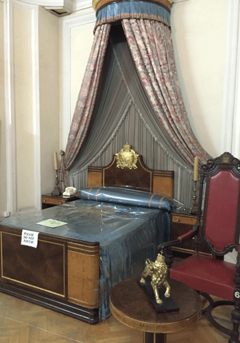 The bedroom of Emperor Haile Selassie, Ethnological Museum, Addis Ababa