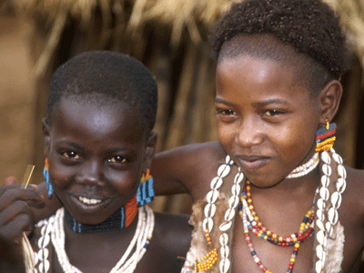 Hamer children, Omo Valley.