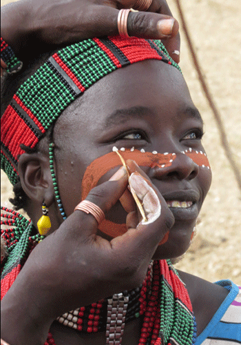 Face Paint Hamer Tribe