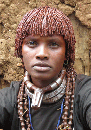 Woman of the Hamer tribe.