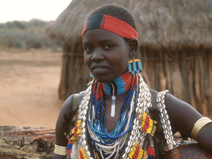 A woman of the Hamer tribe.