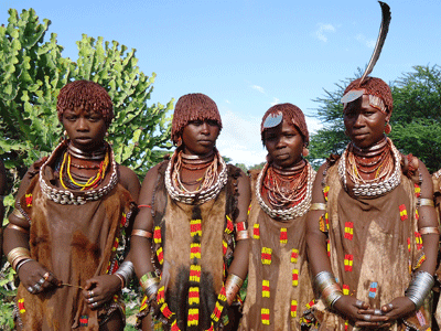 Women of the Hamer tribe.