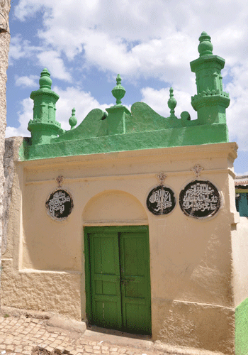 Mosque inside Harar's walled city.