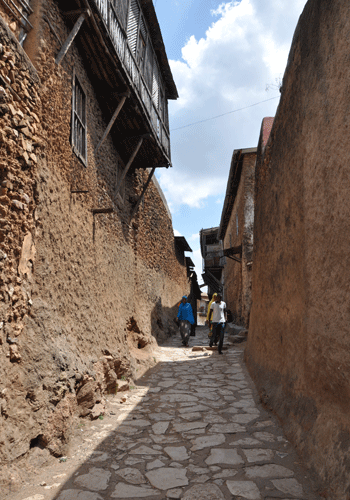 Alleyway in Harar's Jugal, the old walled city.