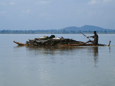 Papyrus boat on Lake Tana.
