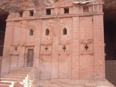 Monolithic church in Lalibela.