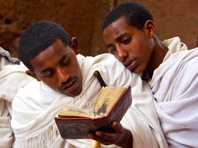 Church deacons in Lalibela.