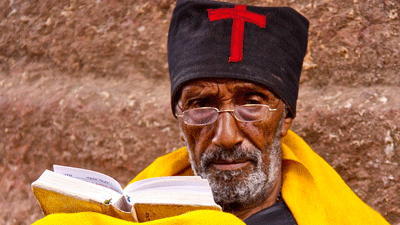 An Orthodox monk in Lalibela.