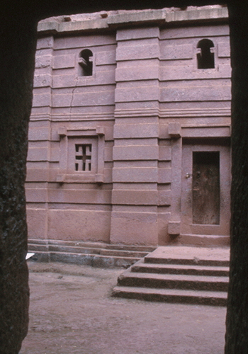 Monolithic rock churches in Lalibela.
