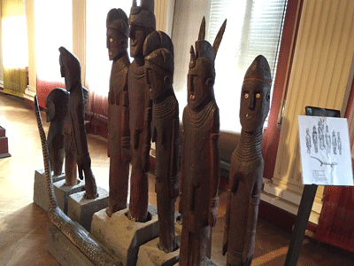 Waka Statues by Konso people Addis Ababa National Museum