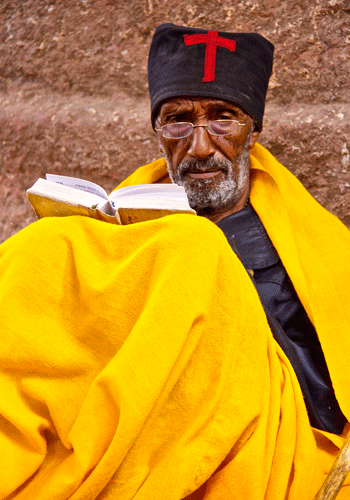 Orthodox monk in Lalibela.