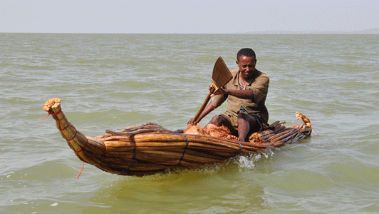 Papyrus Boat on Lake Tana
