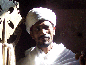 An Orthodox priest in Lalibela.