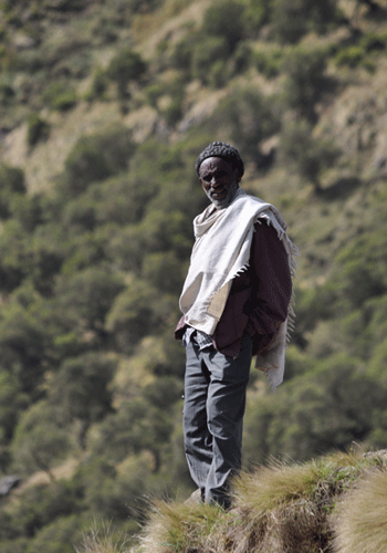 National Park scout in the Simien Mountains.