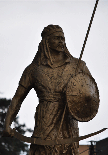 Statue of King Tewodros in Gondar.